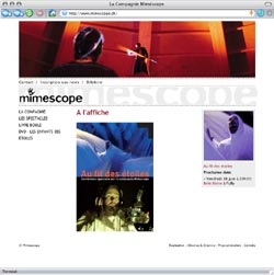Mimescope - page d'accueil